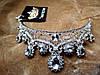 Корона и серьги РУБИНА СЕРЕБРО набор диадема свадебная бижутерия, фото 9