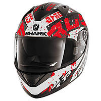 "Шлем Shark RIDILL KENGAL Mat black\red\white ""XL"", арт. HE0513EKWR"