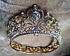 Набор Корона и серьги Теона Голд 1 корона свадебная для волос тиара, фото 5