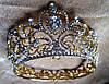 Набор Корона и серьги Теона Голд 1 корона свадебная для волос тиара, фото 6