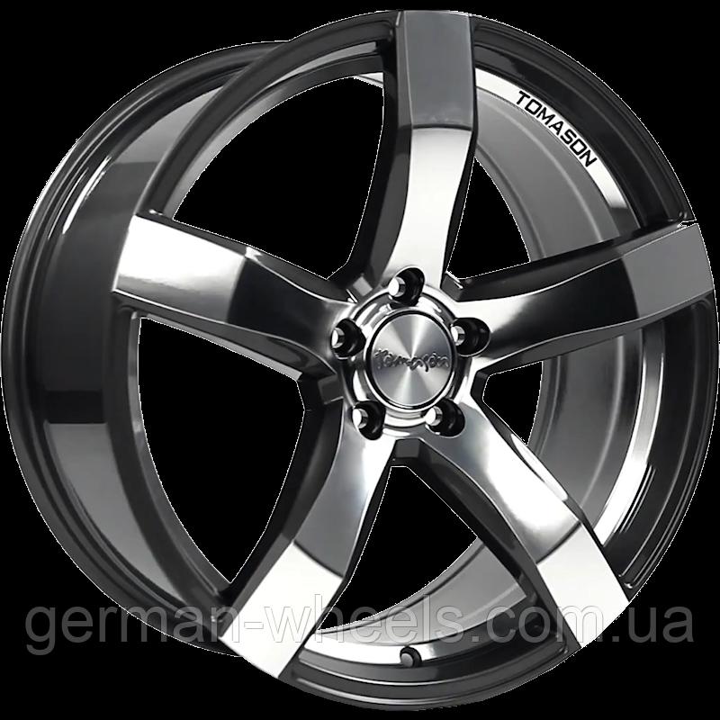 """Диски от Tomason (Томасон) модель TN11 цвет Dark Gunmetal Mirror параметры 8,5J x 18"""" PCD 5 x 114,3 ET 42"""