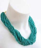 :Бижутерия:Женское ожерелье из бисера, арт. AL-10612_голуб