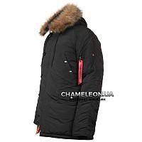 Куртка зимняя аляска n-3b Black/ большие размеры (пр.CHAMELEON)