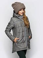 Молодежная зимняя женская куртка свободного кроя на силиконе 90246