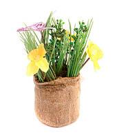 Цветы искусственные в кашпо. Декор в стиле прованс