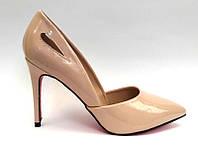 Женские туфли-лодочки Louboutin шпилька лаковая экокожа KF0466