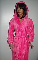 Женский махровый халат с капюшоном,Турция