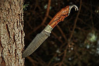 """Нож для охоты ручной работы """"Кобра"""", дамасск (наличие уточняйте)"""