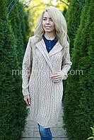 Кардиган женский вязаный стильный шерстяной размеры: 46-56