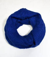:Шарф-хомут, Митенки:Стильный шарф-снуд, арт. xt340_индиго