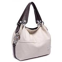 Женская стильная сумка WEIDI POLO (Черный) Бежевый