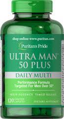 Витамины для мужчин 50+ Puritan's Pride Ultra Vita Man™ 50 Plus 120 Caplets