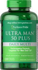 Витамины для мужчин 50+ Puritan's Pride Ultra Vita Man™ 50 Plus 120 Caplets, фото 2