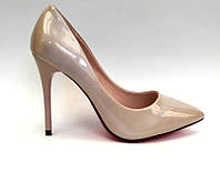 Женские туфли-лодочки Louboutin шпилька лаковая экокожа цвета разные KF0468