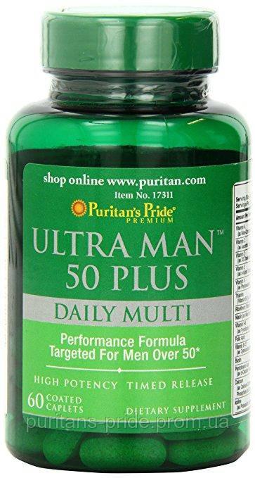 Витамины для мужчин 50+ Puritan's Pride Ultra Vita Man™ 50 Plus 60 Caplets