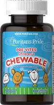Витамины для детей, Puritan's Pride Pre-Vites Children's Multivitamin 100 Chewables