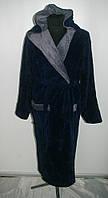 Теплый мужской халат,микрофибра,XL-4XL