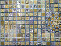 """Панель ПВХ  """"Медальон синій"""" 0,3мм (955*488 мм)"""