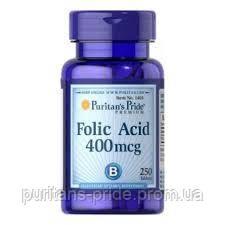 Фолієва кислота, Puritan's Pride Folic Acid 400 mcg 250 Tablets, фото 2