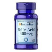 Фолиевая кислота Puritan's Pride Folic Acid 400 mcg 250 Tablets
