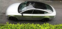 Зеркальная пленка 3 слоя черная для авто 135*30см