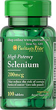 Селен минерал, антиоксидант Puritan's Pride Selenium 200 mcg 100 Tablets