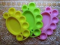 Палитра художественная для детского творчества, 17*11см, 3цвета.