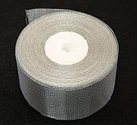 Лента парча 25 ярдов,шириной 1,2 см серебристая