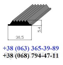 Гумова вставка в протиковзкі накладки 30,5х5,4 мм