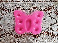 Палитра художественная для детского творчества Бабочка, 14*11см, розовый цвет.
