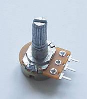 Переменный резистор (потенциометр) 5кОм (WH148-B5K) моно L=20мм