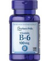 Витамин B-6, Puritan's Pride Vitamin B-6 (Pyridoxine Hydrochloride) 100 mg 100 Tablets