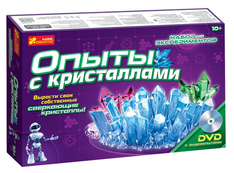 Подарочный набор Опыты с кристаллами набор экспериментов (научные эксперименты и наборы) 0320