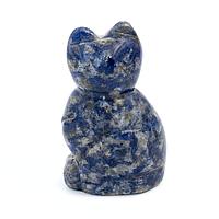 Содалит, статуэтка кошка, 211ФГС