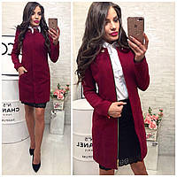 Пальто женское, модель  739/2, вишня, фото 1