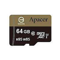 Карта памяти Apacer 64GB microSDHC UHS-I (95/85) U3 Class10 w/0 Adapter RP (AP64GMCSX10U4-R)