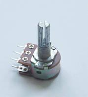 Переменный резистор (потенциометр) 2кОм (WH148-B2K) стерео L=20мм