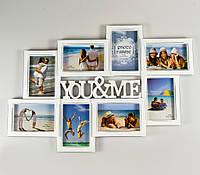"""Фотоколлаж """"Ты и Я"""" на 8 фотографий (63*43 cм)"""