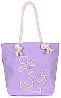 Коттоновая сумка с якорем POOLPARTY anchor-lilac-none Фиолетовый