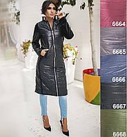 Пальто женское на синтепоне. Чёрное, 5 цветов. Р-ры: S, М, L.