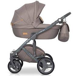 Детская коляска универсальная 2 в 1 Riko Vario 02 caramel (Рико Варио, Польша)