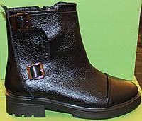 Женские ботинки кожаные на каблучке, женские ботинки от производителя модель В1671