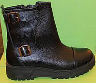 Женские ботинки кожаные на каблучке, женские ботинки от производителя модель В1672