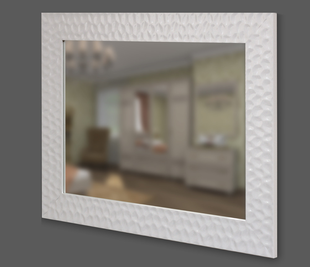 44402df3cca4 Зеркало в белой багетной раме 90мм - Интернет-магазин зеркал