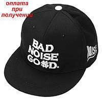 Мужская кепка бейсболка реперка snapback с прямым козырьком BAD NOISE