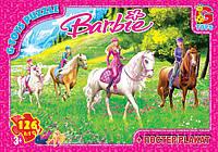 "Пазлы серии ""Barbie"" 126 эл. (полотно 210*300мм) в кор. 19х13х3см GToys(BA005)"