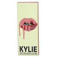 Жидкая матовая помада + карандаш для губ 2 в 1 Kylie 8611
