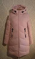 Полу-пальто зимнее Venissa 18367 розовый