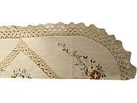 Ажурная льняная салфетка овал 60-120  см