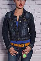 Модный женский джинсовый пиджак Dimoni (код 1019)